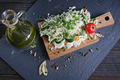 Healthy food ingredients with tomato, cucumber, cabbage, green onion, egg and spices - PhotoDune Item for Sale