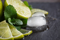 Fresh lime, mint and ice cubes. - PhotoDune Item for Sale