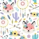 Heads of Foxes Seamless Pattern - GraphicRiver Item for Sale
