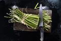 Preparation of green wild asparagus - PhotoDune Item for Sale