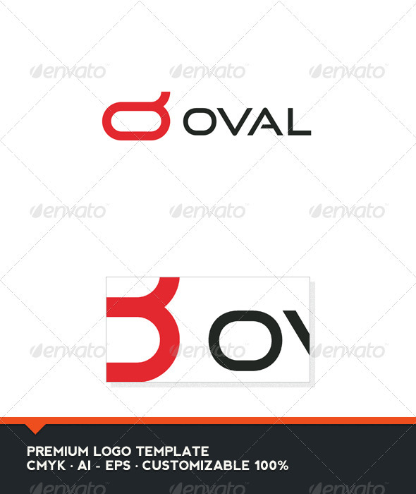 Oval - Symbol and Letter O Logo Template