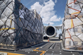 Loading of cargo containers to airplane - PhotoDune Item for Sale
