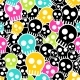 Vector Seamless Wrapping Paper with Colkor Skulls - GraphicRiver Item for Sale
