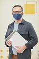 Male teacher wearing mask - PhotoDune Item for Sale