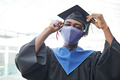 Young man wearing mask at graduation - PhotoDune Item for Sale