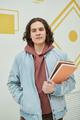 Portrait of teenage boy in school - PhotoDune Item for Sale