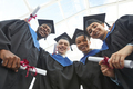 A group of people in graduation gowns low angle - PhotoDune Item for Sale