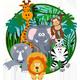 Visiting Jungle Little Happy Monkey