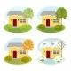 Four Seasons House Illustration Set - GraphicRiver Item for Sale