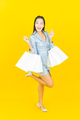 Portrait beautiful young asian woman smile with shopping bag - PhotoDune Item for Sale