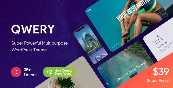 Qwery – Multi-Purpose Business WordPress Theme + RTL, Gobase64