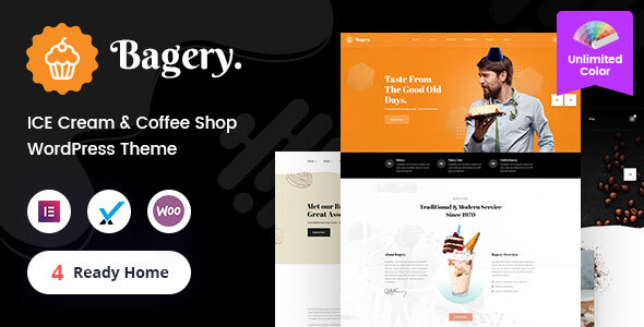 Bagery - Ice Cream Shop WordPress Theme