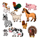 Set of Ten Farm Animal Collection - GraphicRiver Item for Sale