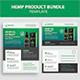 Hemp Product Flyer & Postcard Bundle - GraphicRiver Item for Sale