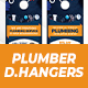 Plumber Door Hanger 2 in 1 templates - GraphicRiver Item for Sale