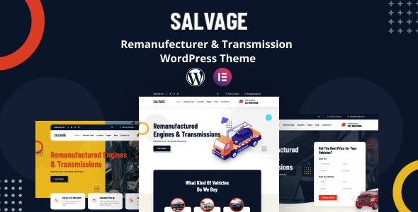 Salvage - Remanufacturer WordPress Theme