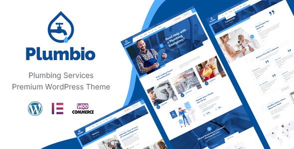 Plumbio - Plumbing Services WordPress Theme