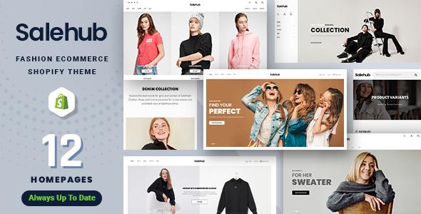 SaleHub – Clothing and Fashion Shopify Theme, Gobase64