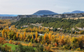 Rock formations and autumn forest from Binies village, Spain - PhotoDune Item for Sale
