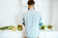 Man cooking with vegetables on the kitchen - PhotoDune Item for Sale