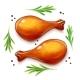 Chicken Leg. Turkey Haunch. Bird Food. Vector. Eps10 - GraphicRiver Item for Sale