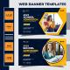 Kids School Admission Web Banner Design Template - GraphicRiver Item for Sale