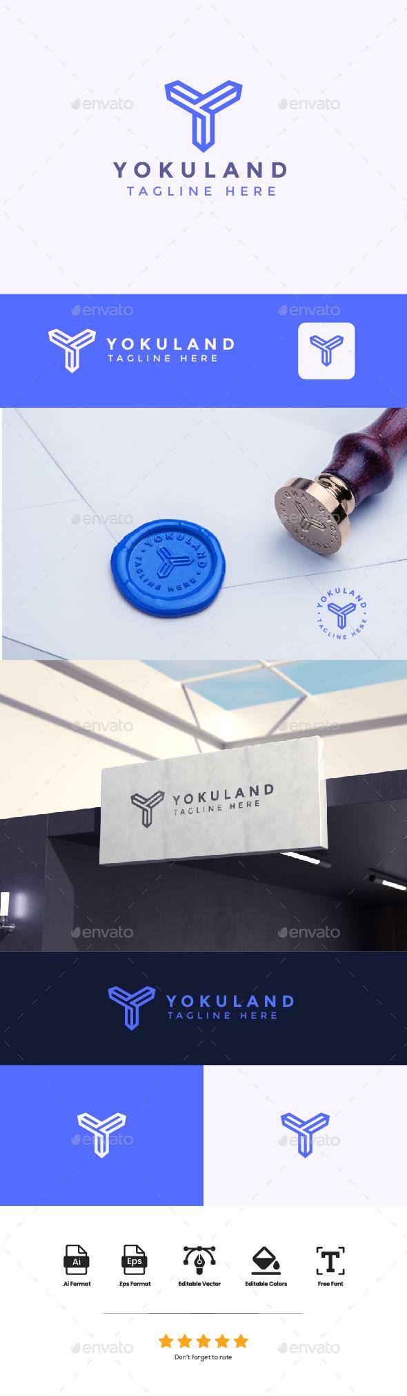 Logo Letter Y - Yokuland