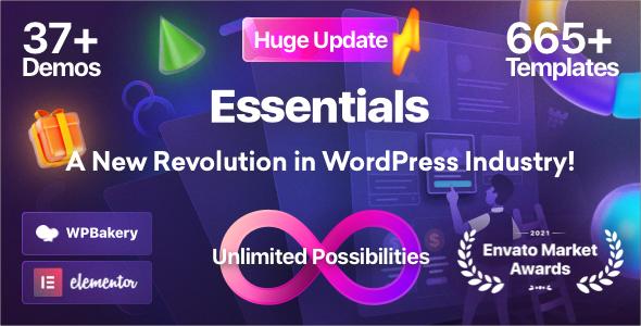Essentials   Multipurpose WordPress Theme, Gobase64