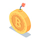 Isometric Golden Bitcoin with Burning Fuse - GraphicRiver Item for Sale