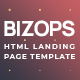 Bizops - Online Business Opportunities HTML Landing Page Template - ThemeForest Item for Sale