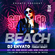 Summer Beach Party Flyer Banner - GraphicRiver Item for Sale