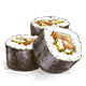 Sushi Food  - Color And Black&White Version - GraphicRiver Item for Sale