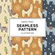Earth Tone Illustration of Llama Alpaca Seamless Pattern - GraphicRiver Item for Sale