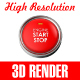 Start Stop engine button - GraphicRiver Item for Sale