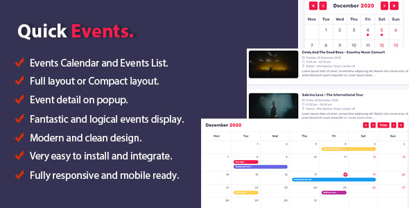 Quick Events For PHP
