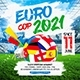 Euro Football Square Flyer - GraphicRiver Item for Sale
