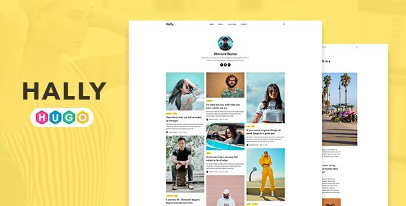 Hally – Minimal Blogging Theme for HUGO Static Site Generator