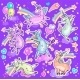 Set of Cute Dancing and Singing Unicorns - GraphicRiver Item for Sale
