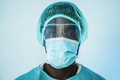 Portrait of young african medical doctor working inside hospital during coronavirus outbreak - PhotoDune Item for Sale