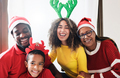 Multiracial family celebrate Christmas together - PhotoDune Item for Sale