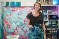 Portrait of senior artist painting inside her atelier studio at home - Focus on face - PhotoDune Item for Sale