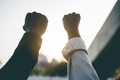 Black people holding hands during protest for no racism - PhotoDune Item for Sale