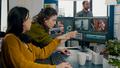 Art video director explaning steps for prosessing film montage - PhotoDune Item for Sale
