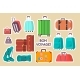 Cute Sticky Labels Decorated with Various Luggage - GraphicRiver Item for Sale