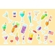 Cute Sticky Labels Decorated with Exotic Cocktails - GraphicRiver Item for Sale
