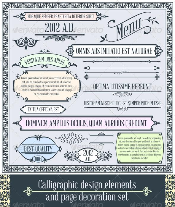 Calligraphic design elements 2
