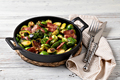 Fried Brussels sprouts with bacon - PhotoDune Item for Sale