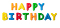 Colorful in letters saying Happy Birthday - PhotoDune Item for Sale