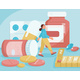 Medicines in Pharmacy Concept - GraphicRiver Item for Sale