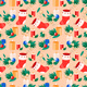 Vector Seamless Pattern with Christmas Elements - GraphicRiver Item for Sale